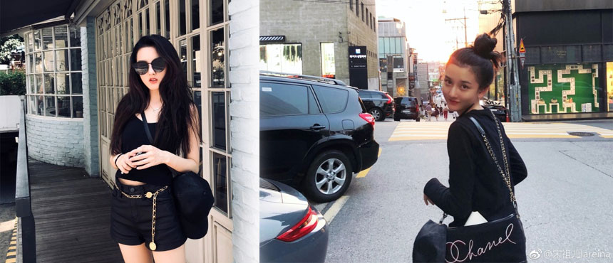 宋祖儿晒首尔游玩照!原来一身黑也能拍出少女系游客照